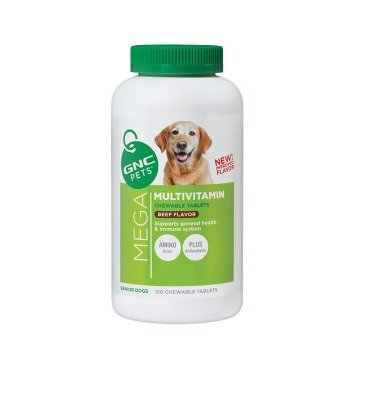 GNC Pets Mega Multivitamin Plus for Senior Dogs – Beef Flavor 180 chewable tablets For Sale