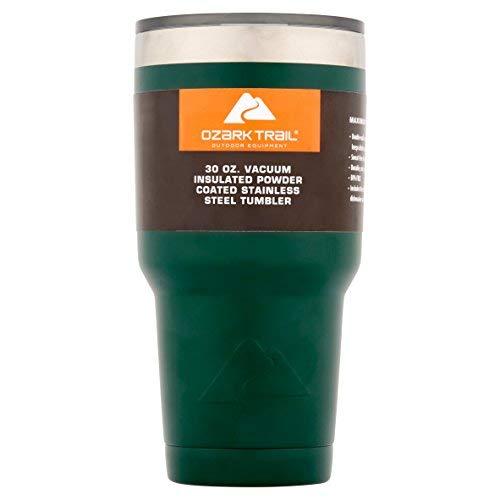 (Ozark Trail 30-Ounce Double-Wall, Vacuum-Sealed Tumbler (Green))