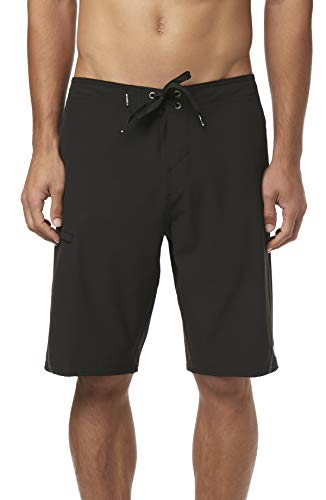 O'Neill Men's Water Resistant Hyperfreak Stretch S-Seam Swim Boardshorts, 21 Inch Outseam (Black / Sp19, Black) from O'Neill