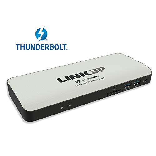 [Certified] LINKUP Aluminum 2019 Thunderbolt 3 Dock/Docking Station w/HDMI 2.0 & True 60W Power Delivery | for Windows & Mac | (Not Compatible with USB-C Ports Without The Thunderbolt Logo) (Best Laptop Docking Station 2019)
