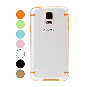PEACH- Two Colors Transparent Plastic Hard Case and TPU Frame for Samsung Galaxy S5 I9600 , Green