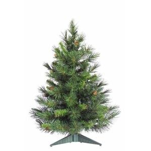 Vickerman Cheyenne Tabletop Tree, 24-Inch, Pine Green 117