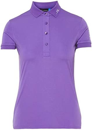 J.Lindeberg W Tour Tech-TX - Polo para Mujer, Color Morado: Amazon ...