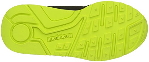 Le Coq Sportif Lcs R900 Gs, Zapatillas Unisex Niños Negro (Black/Safety YellowBlack/Safety Yellow)