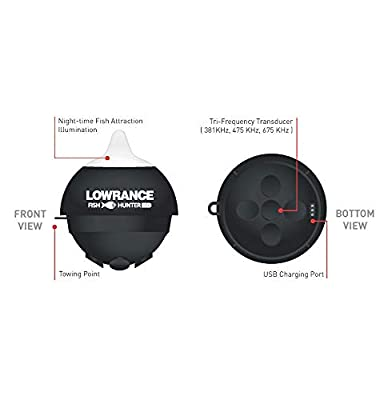Lowrance FishHunter PRO - Portable Fish Finder Connects via WiFi to iOS and Android Devices