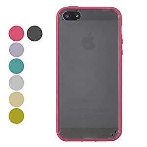 TPU Candy Color Matting Hard Case for iPhone 5/5S(Assorted Colors) --- COLOR:Blue