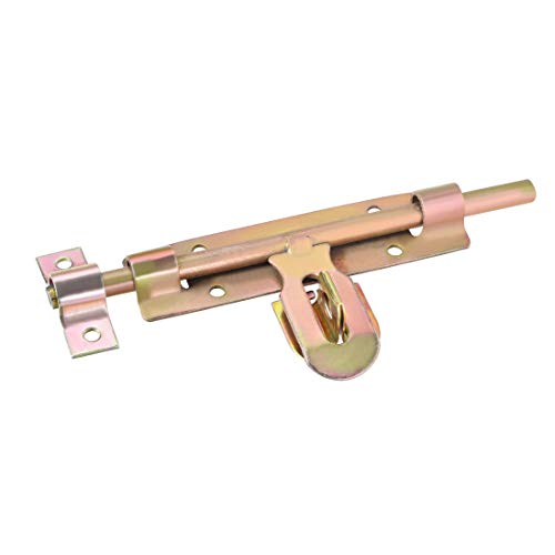 uxcell Sliding Bolt Gate Latch, 8 Inch Iron Zinc Plated Door Hasp with Padlock Hole 3/4 Double Hinge Hasp