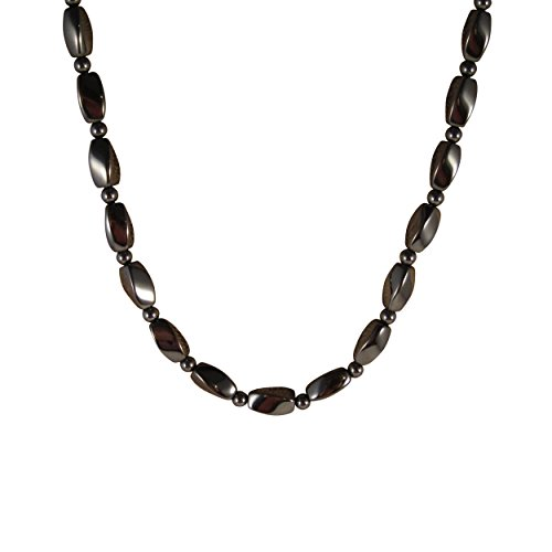 Zen Canyon Magnet Health Therapy Magnetic Hematite Twist Beads Necklace, 18