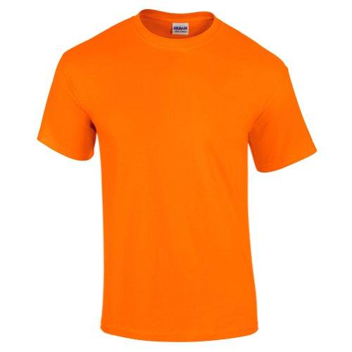 Gildan Mens Ultra Cotton Short Sleeve T-Shirt (3XL) (Safety Orange)