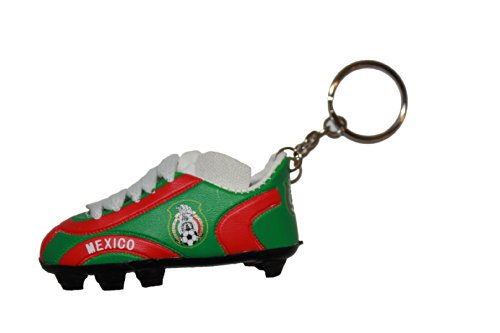 Mexico Red Green Soccer Shoe Cleat Keychain .. High Quality .. New
