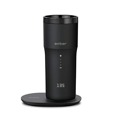 NEW Ember Temperature Control Smart Mug 2, 12 oz, Black, 3-hr Battery Life – App Controlled Heated Coffee Travel Mug – Improved Design