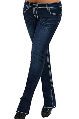 Jeans Pantalons Extensible Et Les Taille Jeans Femmes Marine Long xpq5vwU07
