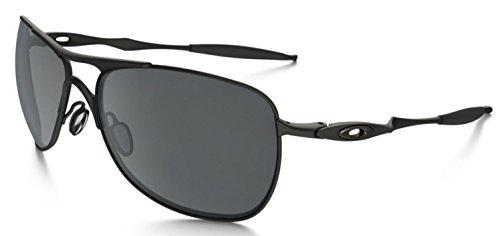 Oakley Mens Crosshair OO4060-03 Iridium Non-Polarized Oval Sunglasses,Matte Black Frame/Black Iridium Lens,one - Tailpin Oakley