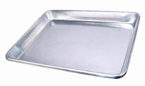 Heavy Aluminum Cake Pan - New Star Foodservice 36800 Extra Heavy 12-Gauge Aluminum Open Bead Sheet Pan, 18 x 26 x 2 inch (Full Size)