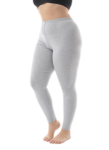 Creative Plus Size Halloween Costumes (Zerdocean Women's Plus Size Modal Lightweight Full Length Leggings Light Gray)