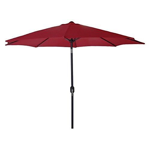 Steel Market Umbrella Burgundy