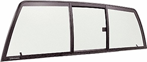 C.R. LAURENCE ETRV660B CRL Tri-Vent Three Panel Slider with Clear Glass for 1998+ Nissan Frontier
