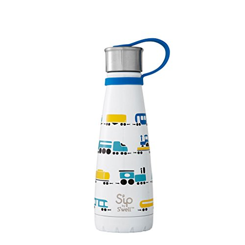 S'ip by S'well Vacuum Insulated Stainless Steel Water Bottle, 10 oz, All Aboard