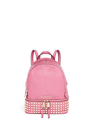 3794d9e778c5b Amazon.com  Michael Kors Rhea Small Studded Leather Backpack Pale Pink   Shoes