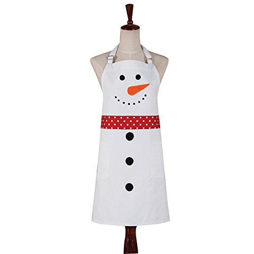 C&F Home 29x31 Canvas Apron, Snowman, Winter, Christmas