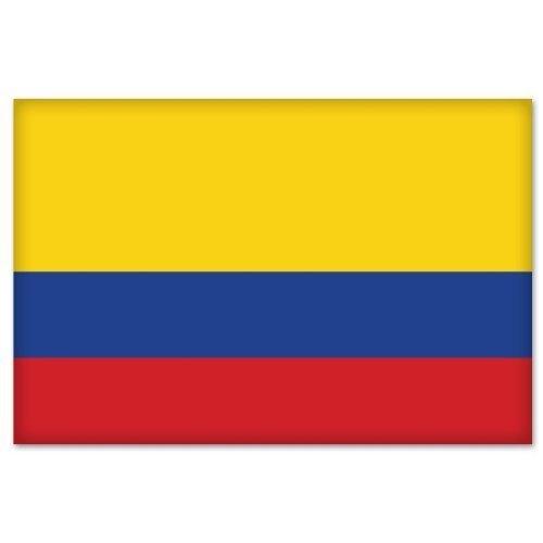 Colombia Colombian Flag car bumper sticker 5