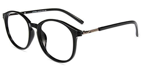 Firmoo New Wayfarer Non-prescription Glasses Frame Blue Light Blocking Lens Eyeglasses Black Frame