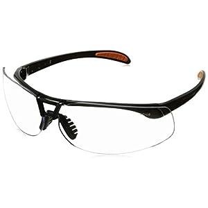 Uvex S4200 Protégé Safety Eyewear, Metallic Black Frame, Clear Ultra-Dura Hardcoat Lens
