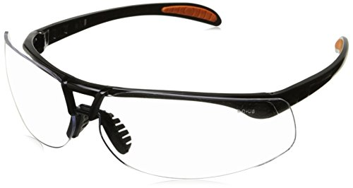 Uvex S4200 Protégé Safety Eyewear, Metallic Black Frame, Clear Ultra-Dura Hardcoat - Clear Lenses Ultra