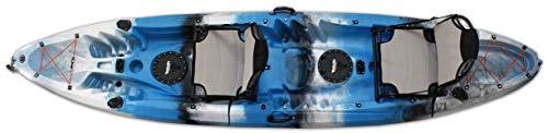 Vanhunks Voyager Deluxe Kayak 12ft (Blue) (Kayak Tandem Sit On Top)