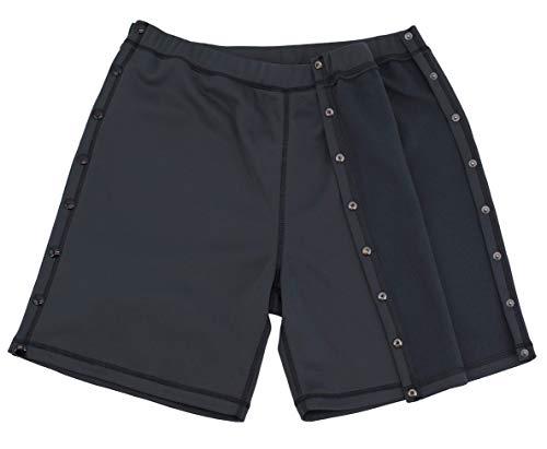 Snap Post - Post Surgery Shorts - Men's - Women's - Unisex Sizing Gray