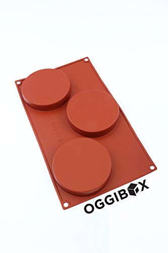 Oggibox 3-Cavity Silicone Disc Mold for Cake, Pie, Custard, Tart and Resin Coaster, Soap, Resin and More (Type Of Resin Used To Make Orgonite)