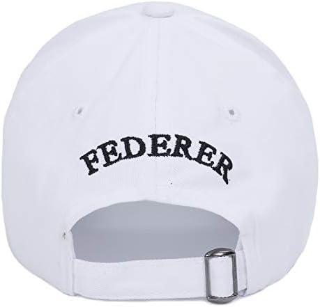 SunAll Berretto da Baseball di Hip-Hop cap Sunhat Casual Cappello Outdoor Sports cap Roger Federer RF Uomini Baseball Caps Cotone Casuale di Hip-Hop del Cappello della Protezione Sportivi Regolabili