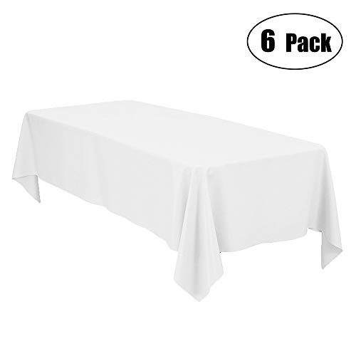 Minel Disposable Party Table Cloths Rectangular 6 Pack White -