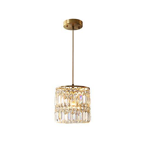 Windsor Home Deco WH-63427 A Modern Crystal Pendant Lights, Golden Pendant Lamp for Bedrooms Living Room Lighting