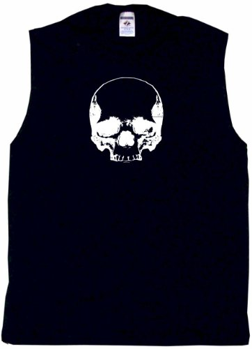 Big Skull Logo Men's Tee Shirt XL-Black SLEEVELESS (Logo Sleeveless T-shirt)