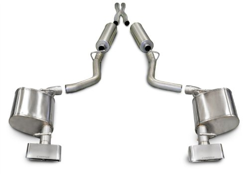 (CORSA 14529 Dual Cat-Back Exhaust System for Dodge Challenger 5.7L)