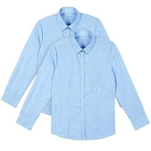 adam /& eesa Pack of 2 Boys White Short Sleeved Button up School Collar Shirts