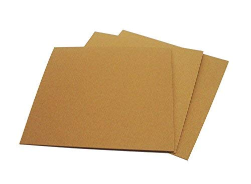 Brown Chipboard 100 Point Extra Thick 12 x 12 Inches, .100 Caliper Heavy Cardboard 2.54 mm Thick