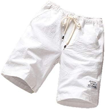 綿 ランニング パンツ メンズ 無地 ハーフパンツ 海辺 ファッション 麻 五分丈 短パン ショートパンツ カジュアル ウエストゴム 腰紐 ゆったり 通気性 大きいサイズ