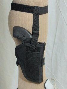 "Barsony Black Nylon Ankle Holster for 2"" Snub-Nose 22 32 38 357 Revolver by Barsony Holsters and Belts"