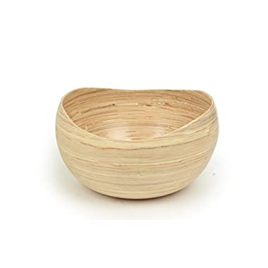 Large Organic Eco-Friendly Bamboo Decorative Lightweight Sturdy Wooden Salad and Fruit Bowl