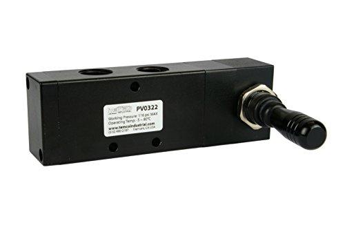 Pneumatic Controller - Spring Return Lever Pneumatic Air Control Valve 5 Port 4 Way 3 Position 1/2