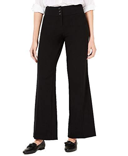 Style & Co Stretch Wide-Leg Pants (Deep Black, 10)