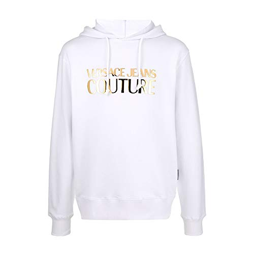 Versace Jeans Couture Men's Metallic Logo Hoodie White
