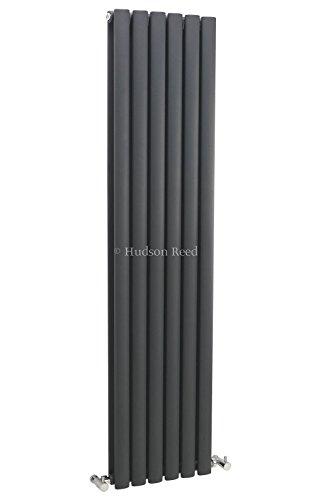 Hudson Reed Heizkörper Revive - Designheizkörper aus Stahl mit Pulverbeschichtung in Anthrazit (RAL 7016) - 1500mm x 354mm - 1324 Watt - Doppellagig - Platzsparend & Effizient - Modernes Design