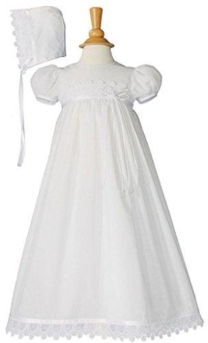Denise Cotton White Christening Gown (White Baptism Dress For Adults)