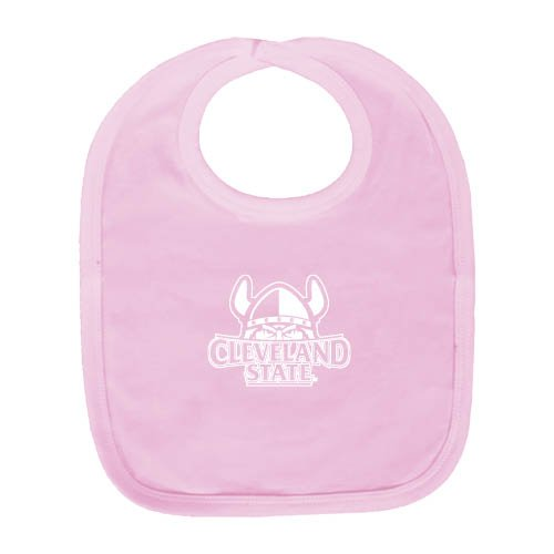 Cleveland State Light Pink Baby Bib 'Official Logo' by CollegeFanGear