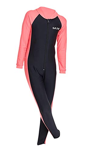HaoLian Girls One Piece Swimsuit Full Bodysuit UPF 50+ Sun Protection Long Sleeve Surfing Thermal Wetsuit Sunsuits for 3…