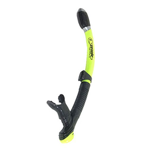 ZEAGLE DRY SNORKEL WITH FLEX AND PURGE FOR SCUBA DIVING AND SNORKELING (Yellow)