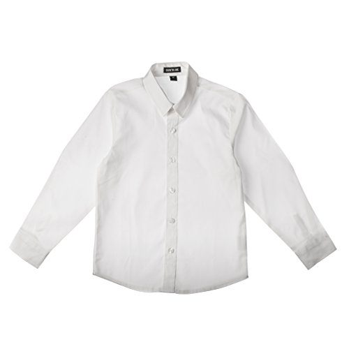 Born to Love Wedding Baptism Birthday White Button-up Shirt - Infant, Toddler & Boys 12-18 (Boy Wedding)